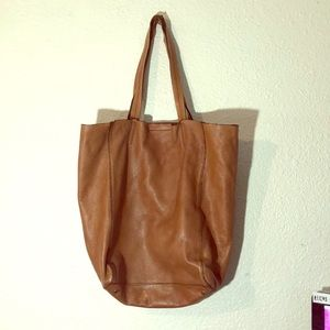 Cow leather tote purse